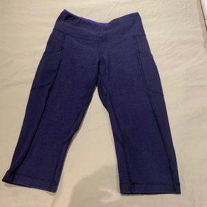 Lululemon Navy/Dark Purple Capri Leggings 4